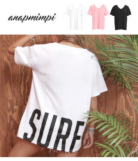 SURFプリントTシャツ