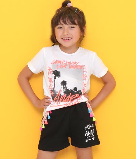 ネオンタッセル付ショートパンツ(ボトムス・パンツ /ショートパンツ・ハイウエストショートパンツ) | ANAP KIDS