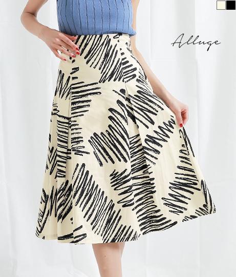 ハンドペイントプリントバックオープンスカート(ボトムス・パンツ /スカート) | Alluge