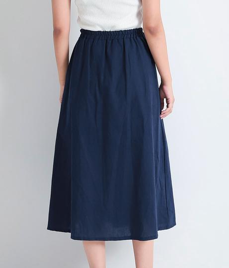 麻混ウッドボタンフレアスカート(ボトムス・パンツ /スカート) | anap mimpi