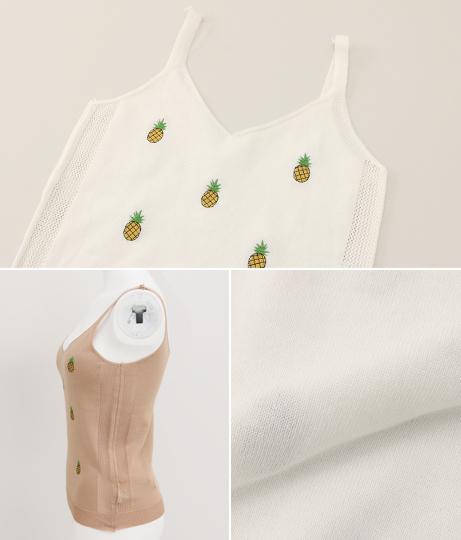 パイン刺繍キャミソール(トップス/キャミソール) | anap mimpi