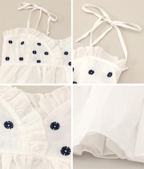 フラワー刺繍フレアキャミソール(トップス/ビスチェ・キャミソール)   anap mimpi