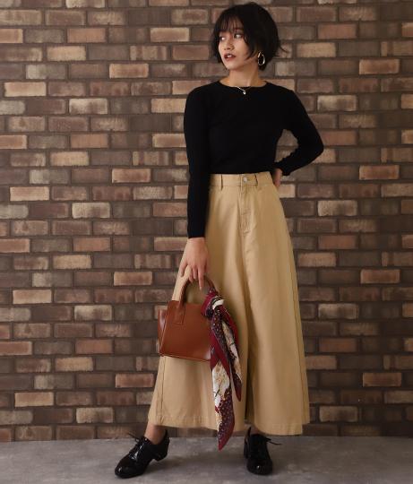 ツイル地Aラインロングスカート(ボトムス・パンツ /スカート) | CHILLE