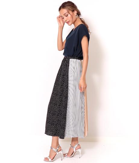 ブロッキングプリーツスカート(ボトムス・パンツ /スカート) | Alluge