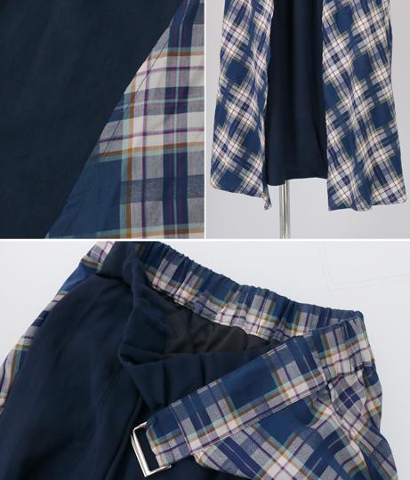 マリンコラーゲンチェックスカート(ボトムス・パンツ /スカート)   Alluge