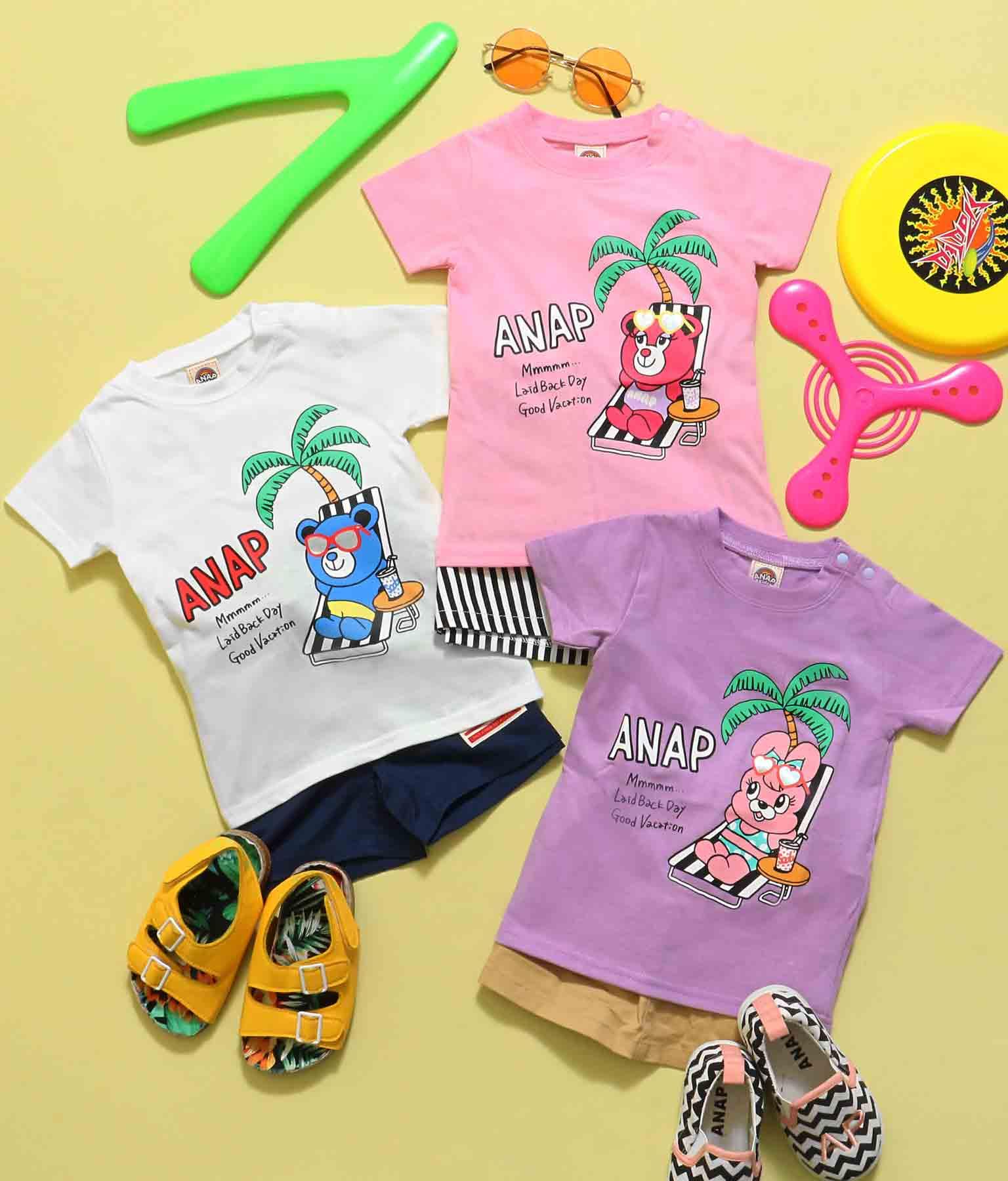 キャラクターサマープリントTシャツ