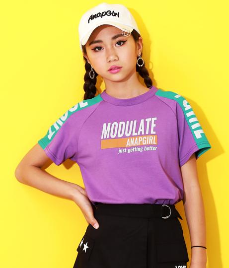 袖配色ロゴTシャツ(トップス/Tシャツ)   ANAP GiRL