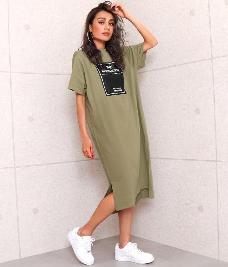 スリットロングワンピース(ワンピース・ドレス/ミディアムワンピ) | ANAP