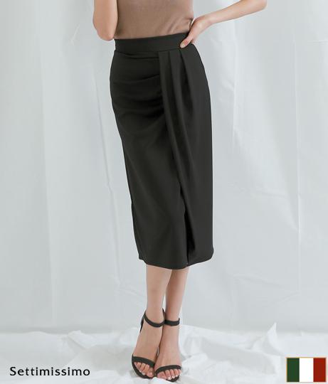 サイドドレープデザインタイトスカート