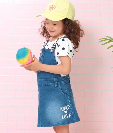 リングジップジャンパースカート(ワンピース・ドレス/サロペット/オールインワン)   ANAP KIDS