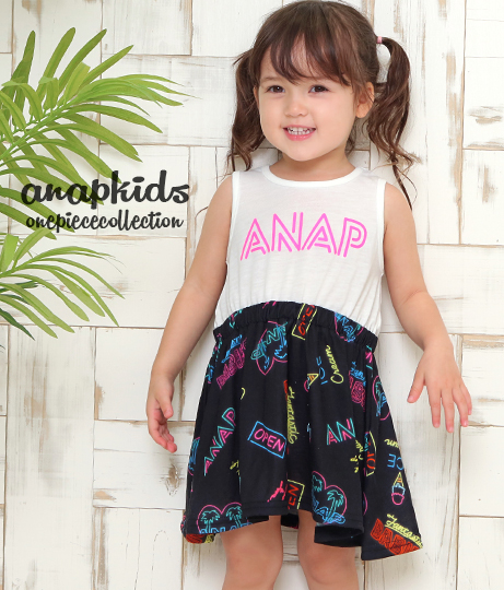 ネオン柄切り替えワンピース(ワンピース・ドレス/ミディアムワンピ) | ANAP KIDS