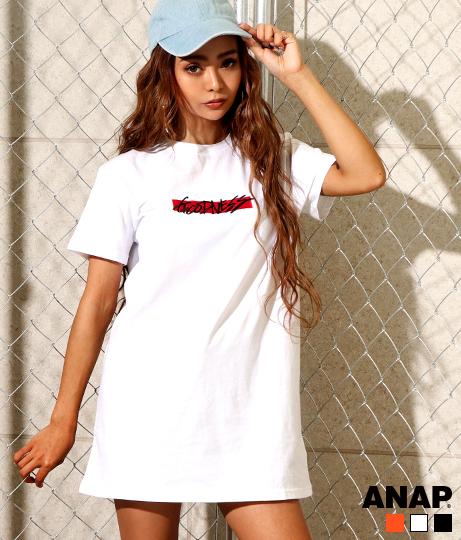 BOXロゴ刺繍Tシャツワンピース