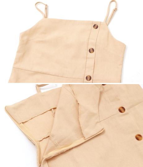 サイドボタン付きキャミソールワンピース(ワンピース・ドレス/ミディアムワンピ)   CHILLE
