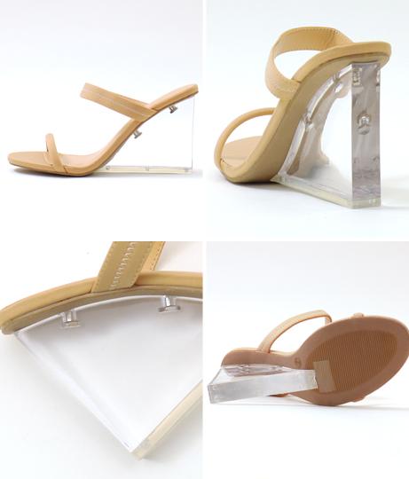 クリアソールダブルベルトサンダル(シューズ・靴/サンダル) | Anap USA