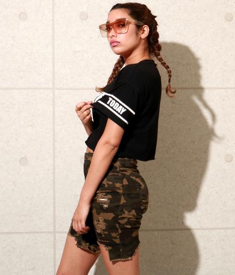 NOPEプリントクロップドTシャツ | Anap USA