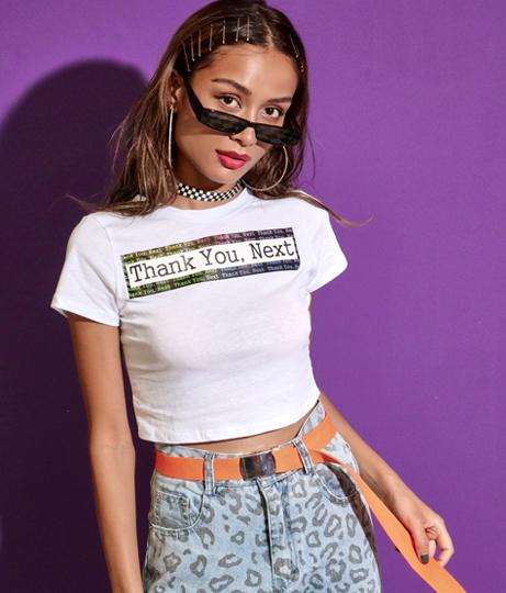 プリントクロップドTシャツ(トップス/Tシャツ・カットソー )   Anap USA
