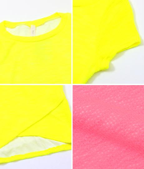 カシュクールヘムネオンニットタイトワンピース(ワンピース・ドレス/ミニワンピ) | Anap USA