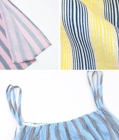 カラーストライプUネックキャミスリットワンピース(ワンピース・ドレス/ロングワンピ・マキシ丈ワンピース) | Anap USA