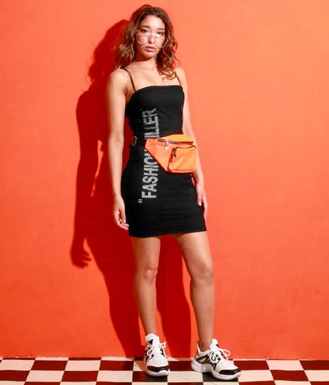 メッシュレイヤードプリントタイトワンピース(ワンピース・ドレス/ミニワンピ) | Anap USA