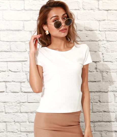 バッククロスタイトTシャツ(トップス/Tシャツ・カットソー )   ANAP