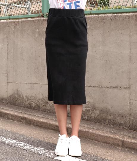 シンプルリブナロースカート(ボトムス・パンツ /ミモレ丈スカート) | ANAP