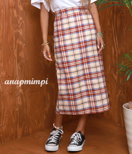 チェックタイトスカート(ボトムス・パンツ /スカート) | anap mimpi