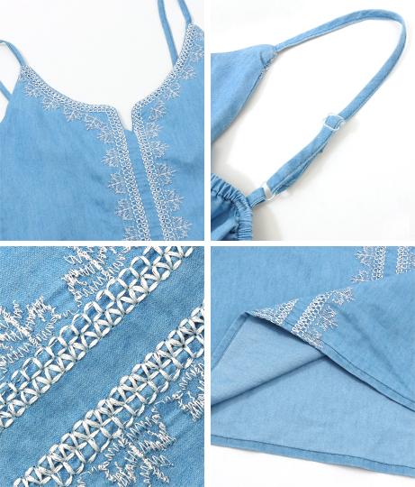 デニム刺繍キャミソール(トップス/キャミソール) | anap mimpi