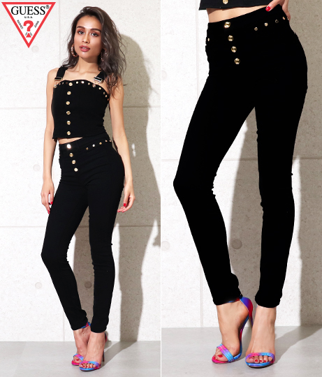 GUESS STUDDED BLACK 1981 SKINNY