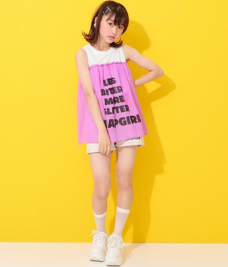 LIPロゴシフォン切替タンクトップ(トップス/Tシャツ・カットソー ) | ANAP GiRL