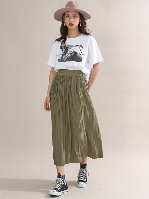 リラックスプリーツスカート