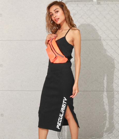 裾スリットプリントキャミワンピース(ワンピース・ドレス/ミディアムワンピ)   ANAP