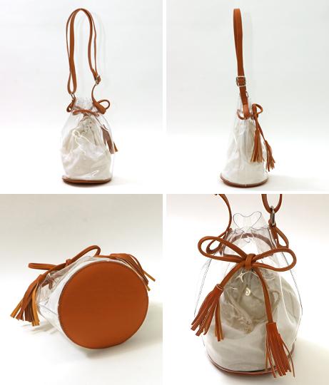 クリア素材巾着バッグ(バッグ・鞄・小物/ショルダーバッグ)   CHILLE