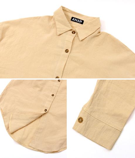 麻風コットンロングシャツ(トップス/シャツ・ブラウス) | ANAP