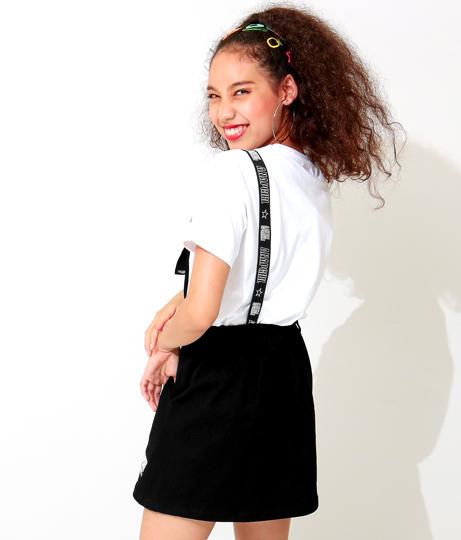 ロゴサス付サロペットスカート(ワンピース・ドレス/サロペット/オールインワン) | ANAP GiRL