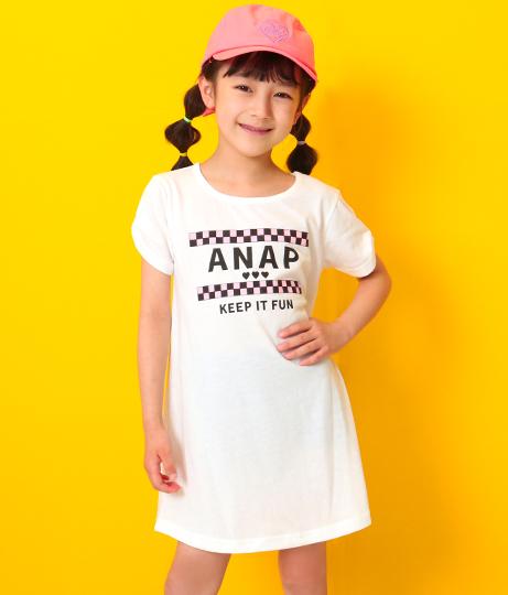 肩リボンワンピース(ワンピース・ドレス/ミディアムワンピ・ミニワンピ) | ANAP KIDS