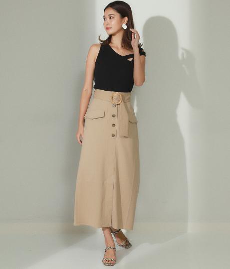 ラタンバックルスカート(ボトムス・パンツ /スカート) | Alluge