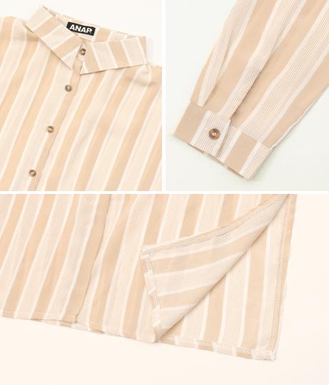 ストライプロングシャツ | ANAP