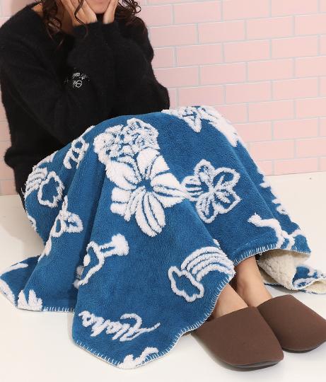 ハワイアン裏ボアブランケット(インテリア雑貨/ブランケット・寝具・寝具カバー) | ANAP HOME