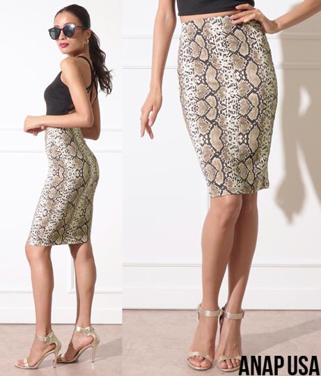 パイソンシンプルタイトスカート