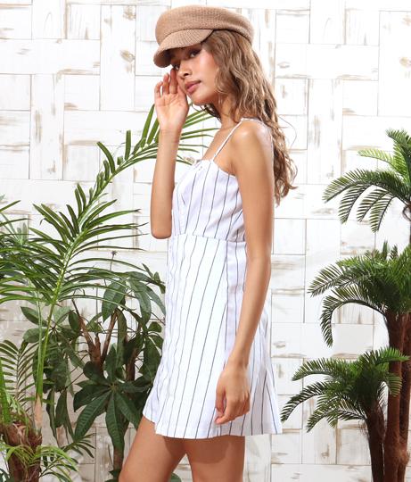 ストライプボタンミニワンピース(ワンピース・ドレス/ミニワンピ)   Anap USA