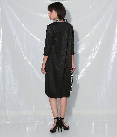1ポケットグリッターカットオフワンピース(ワンピース・ドレス/ミディアムワンピ・パーティードレス) | Settimissimo