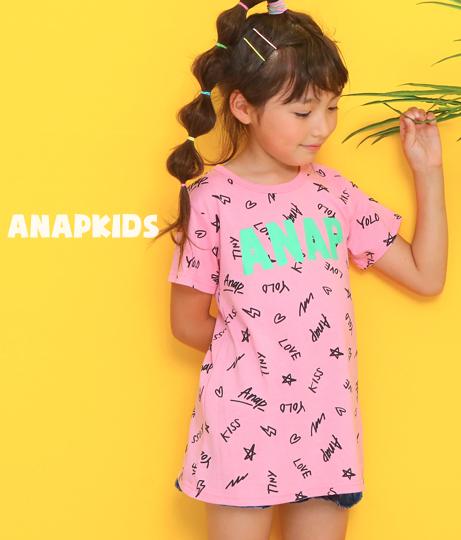 総柄ロゴプリントチュニック(トップス/チュニック・カットソー ) | ANAP KIDS
