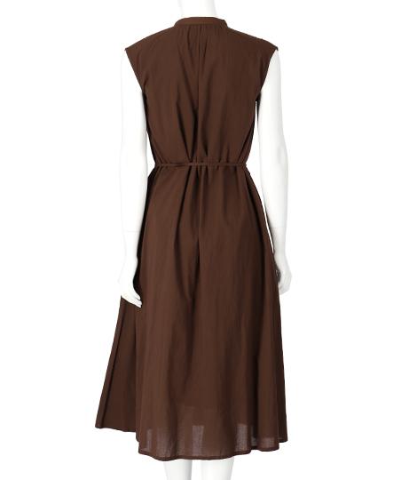 キャンブリックボイルピンタックスタンドカラーワンピース(ワンピース・ドレス/ロングワンピ)   Alluge