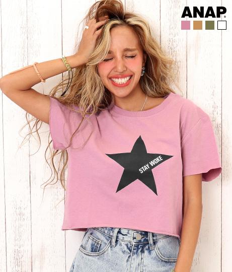 星プリントクロップドTシャツ