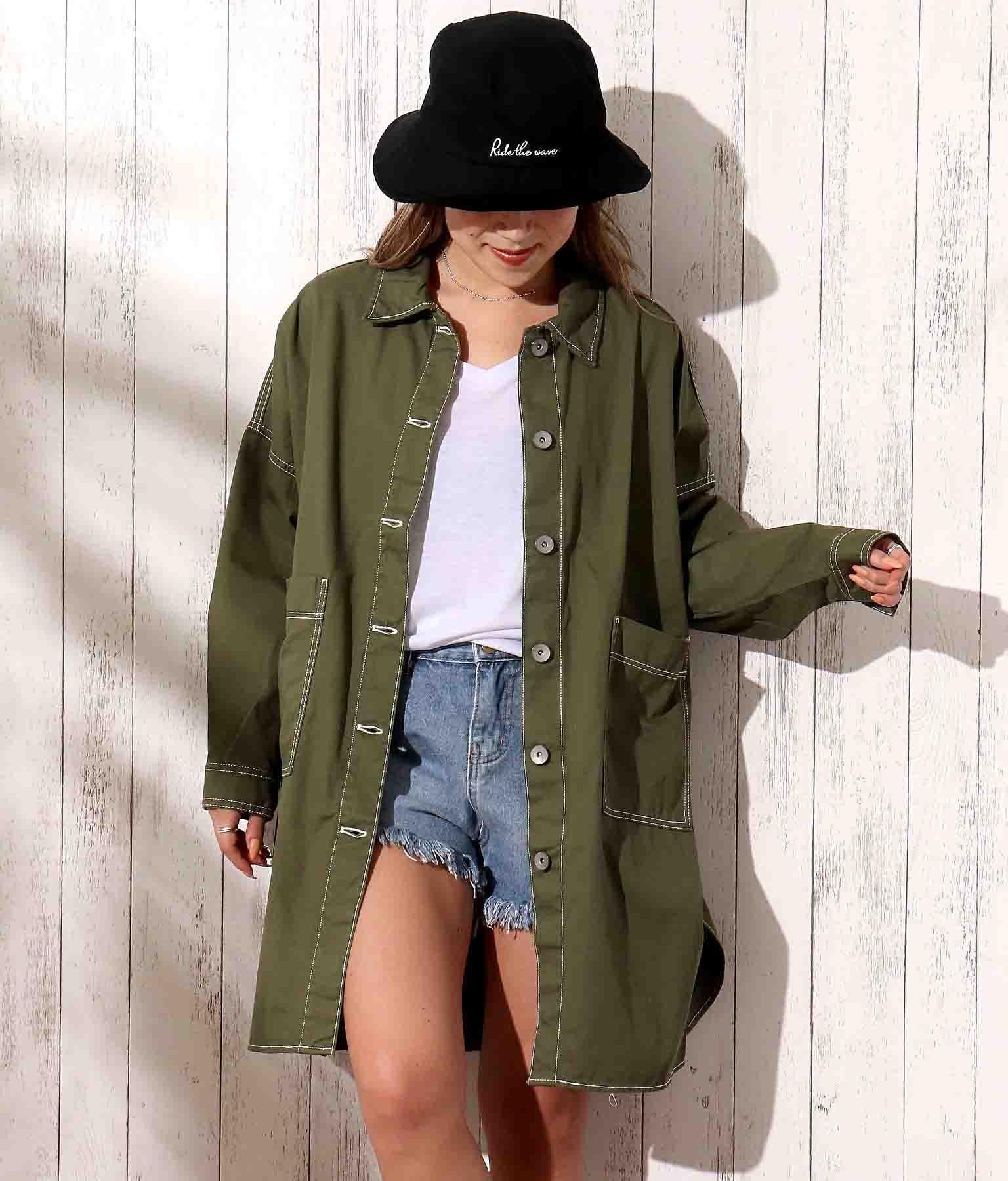 オーバーサイズツイルシャツ(アウター(コート・ジャケット) /ジャケット・ブルゾン) | anap mimpi