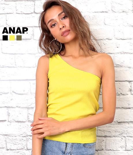 ワンショルダーリブトップス(トップス/Tシャツ・カットソー ) | ANAP