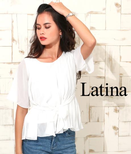 消しプリーツジョーゼットブラウス(トップス/シャツ・ブラウス) | anap Latina