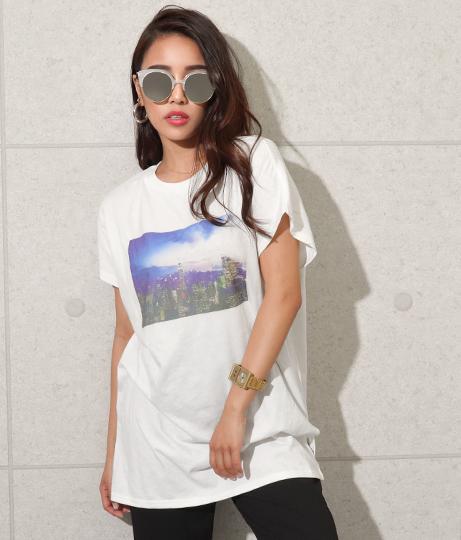 シティプリントフレンチスリーブチュニック(トップス/Tシャツ・チュニック) | anap Latina