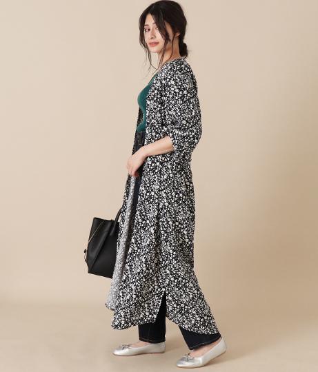 小花柄スキッパーシャツワンピース(ワンピース・ドレス/ロングワンピ) | AULI