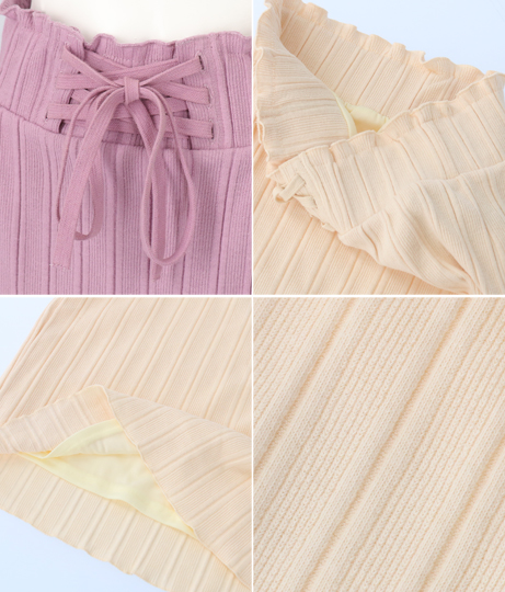 レースアップワイドスカート(ボトムス・パンツ /スカート) | Alluge